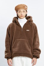 18 WINTER CHUCK SHERPA FLEECE ANORAK (BROWN)