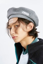 18 WINTER CHUCK LOGO WOOL & CASHMERE BERET (GRAY)