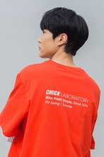 19 SPRING CHUCK LABORATORY T-SHIRT (ORANGE RED)