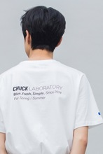 19 SPRING CHUCK LABORATORY T-SHIRT (WHITE)