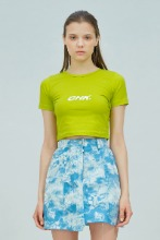 19 SUMMER CHK LOGO CROP T-SHIRT (LIME)