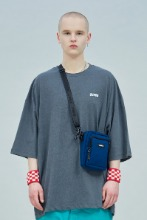 19 SUMMER CHUCK LOGO SUPER OVERSIZE T-SHIRT (CHARCOAL)