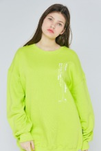 [블프한정] 19FW CHUCK VERTICAL LOGO SWEATSHIRT (NEON YELLOW)