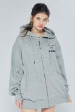 19FW CHUCK THREE LOGO HOOD ZIPUP (GRAY)