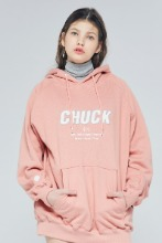 19FW CHUCK SIGNATURE LOGO HOODIE (BABY PINK)