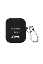 CHUCK THREE LOGO AIRPODS CASE (BLACK)