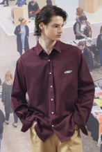 19FW CHUCK RUBBER LABEL SHIRT (WINE)